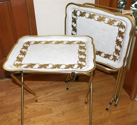 The Tv Trays by Vintage Cal Dak Tv Trays With Stand Rolling Cart By