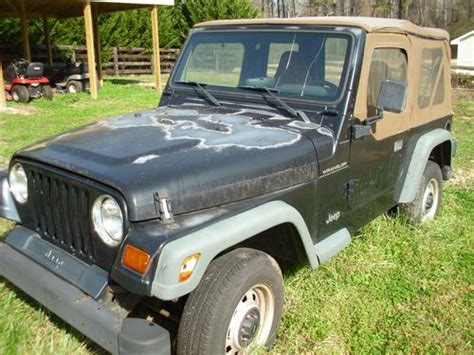 1997 Jeep Manual Purchase Used 1997 Jeep Wrangler 4x4 One Owner Black