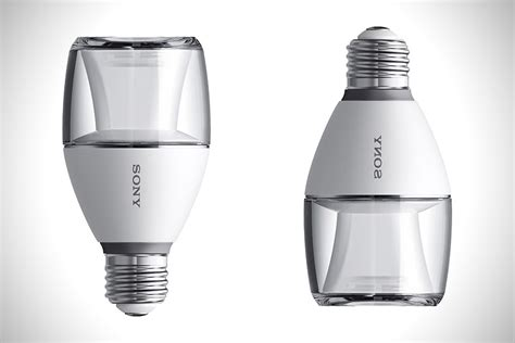 led light bulb speakers sony led bulb bluetooth speaker hiconsumption
