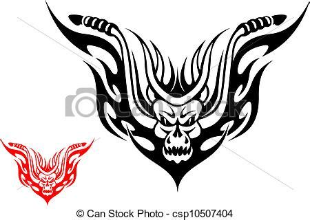 vector clipart of motorcycle tattoo tribal biker