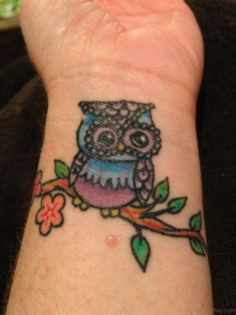 colorful owl tattoo 36 owl tattoos on wrist
