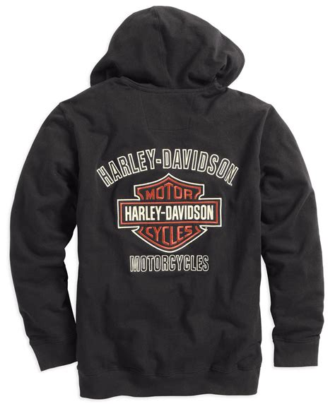 Sweaterhoodiezipper Harley Davidson 99003 16vm harley davidson zip hoodie bar shield