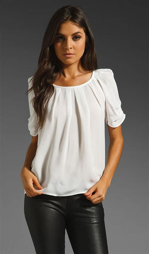 Forever21 Pleated Blouse White T3010 1 pleated white blouse pinteres