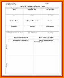 golf lesson plan template 12 creative curriculum lesson plan template monthly