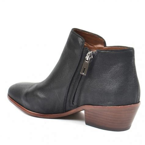 sam edelman petty black leather ankle boot