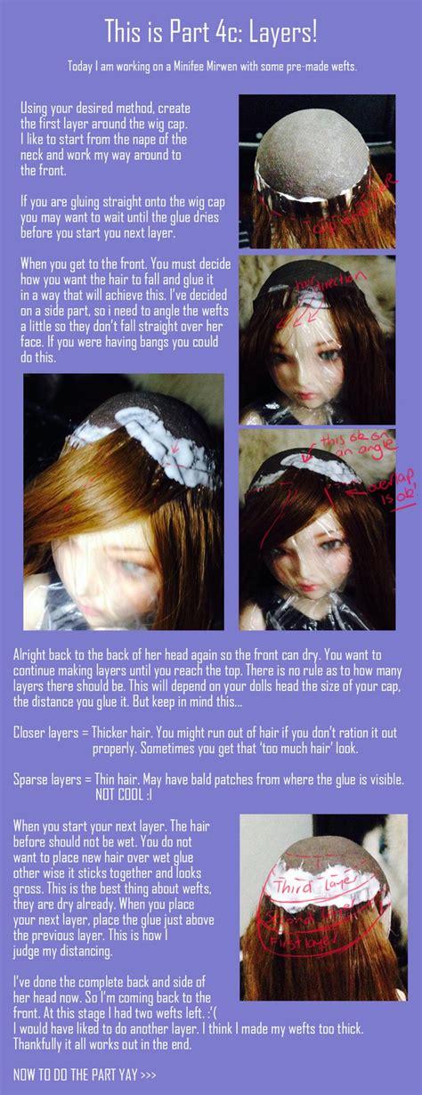 tutorial wig bjd 32 best bjd wig tutorial images on pinterest wig making