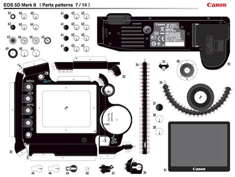 Canon Printable Paper Crafts - print and build your own highly detailed paper canon cameras