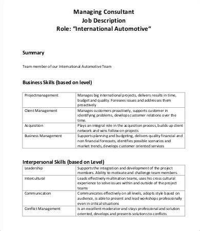 10 consultant descriptions pdf doc free
