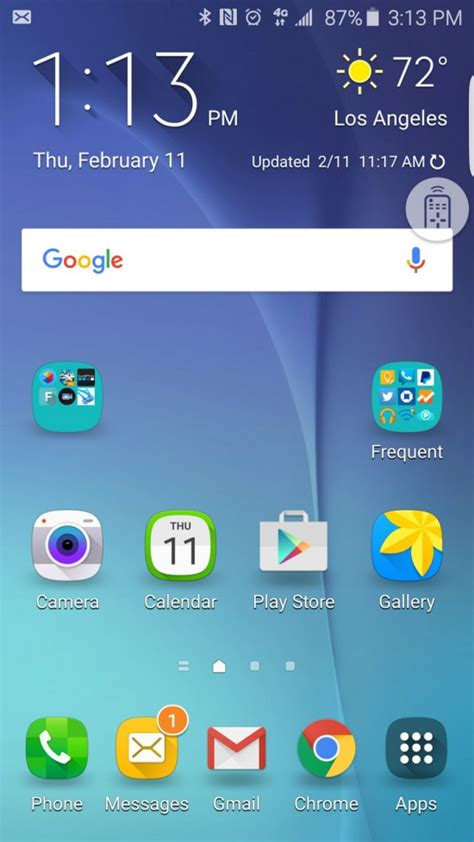 random remote widget freezing your android update or