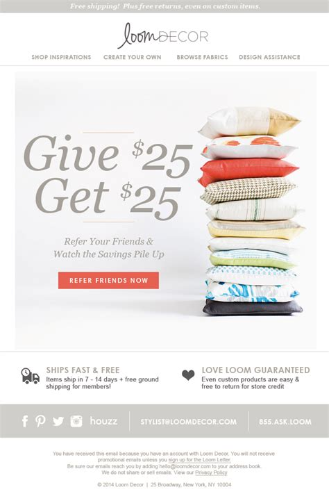 11 email blast exles that rock friendbuy