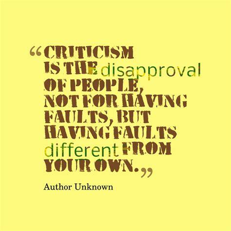 comments critics criticism quotes