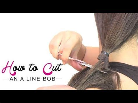 diy cutting a stacked haircut how to cut an a line bob youtube if you want longer in