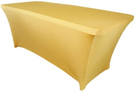 spandex table cover 10pcs rectangular spandex table cover 6 ft gold in table