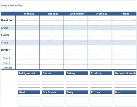 meal plan template docs update 45935 daily menu planner template 34 documents