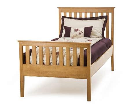 Serene Grace 3ft Single Cherry Wooden Bed Frame With High Single Wooden Bed Frames