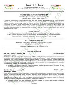 Sle Resume For Maths Teachers Freshers Resume Utah Sales Lewesmr