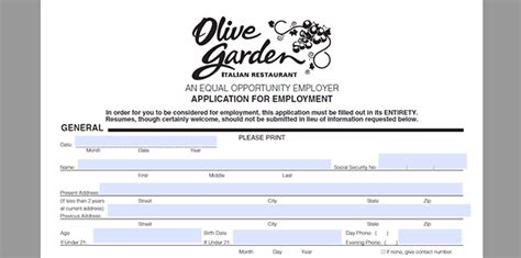 olive garden application olive garden application adobe pdf apply pertaining to idea garden for your