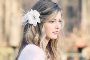 flower hair bridal hair flower fascinator white bridal hair clip wedding bridal hair clip on luulla