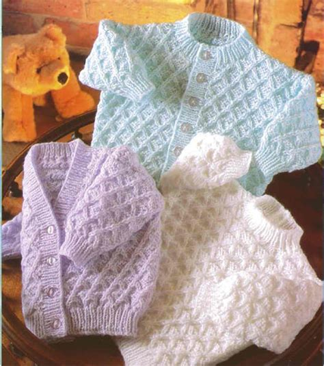 dk baby knitting patterns free knitting pattern dk baby cardigans sweater 16 quot 22 quot 163