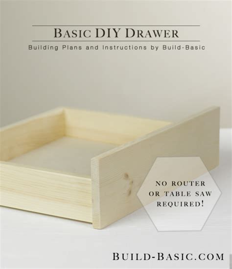 build  basic diy drawer build basic