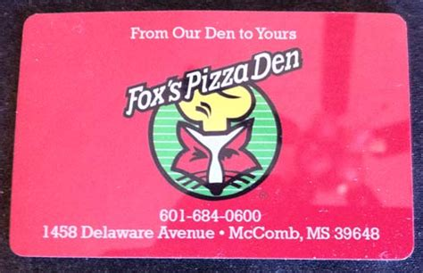 Fox Gift Card - fox s pizza den