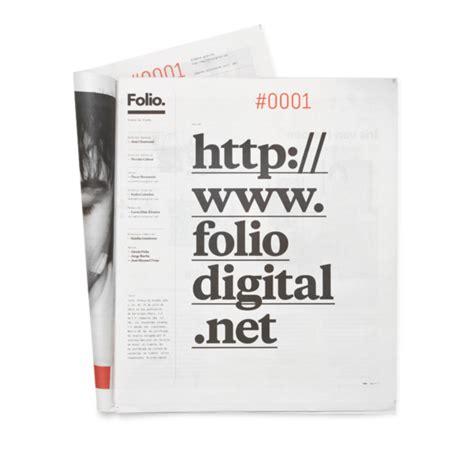 graphic design folio layout redesign for folio magazine