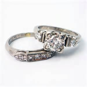 platinum vintage wedding rings platinum vintage retro 1940s engagement wedding ring