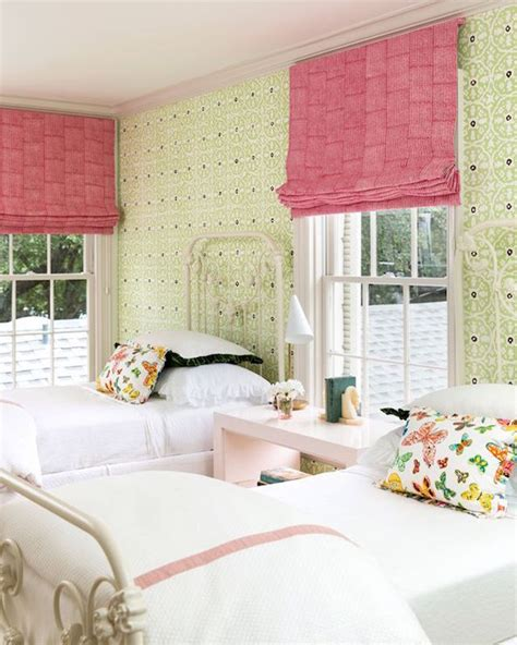 girls bedroom l shades pink roman shades transitional girl s room carrie