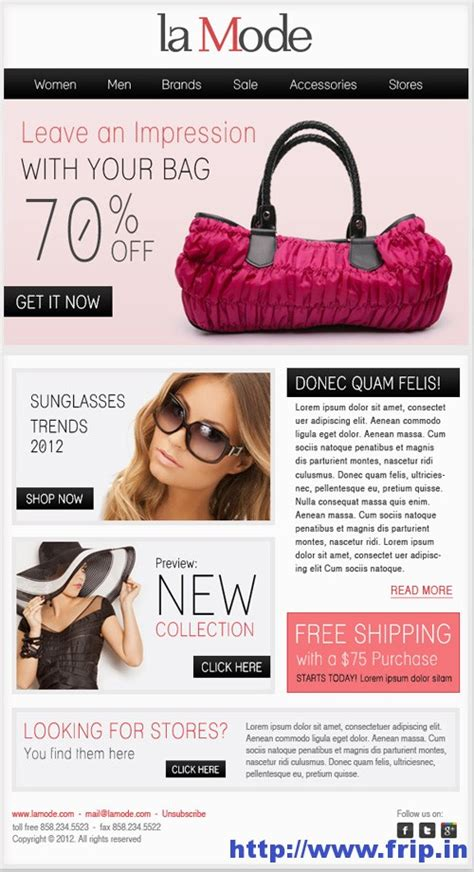 82 best fashion email newsletters images on email newsletters email newsletter best 40 shopping ecommerce email templates frip in