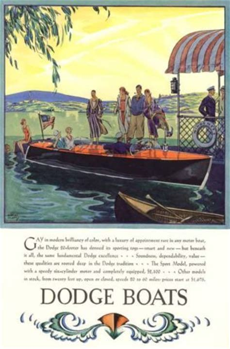 speed boats art deco posters  dodge  pinterest