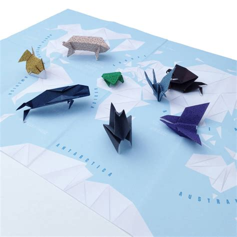 Map Origami Paper - origami world map craft kit by maps international