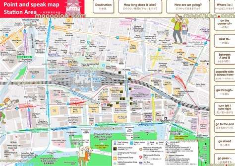 tokyo map tourist attractions tokyo map point and speak bilingual