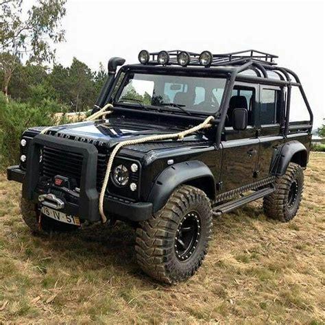 jeep range rover black landrover full black defender 110 crew cab