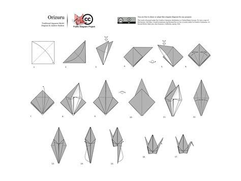 How To Do A Origami - tsuru origami wikip 233 dia a enciclop 233 dia livre