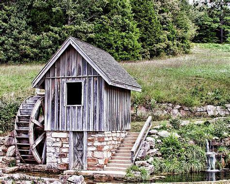 waterwheel shed greeting card  sale  martha holloway