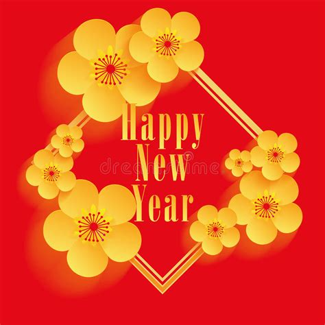 basket of flowers new year greeting card design shop new year greeting card design stock vector