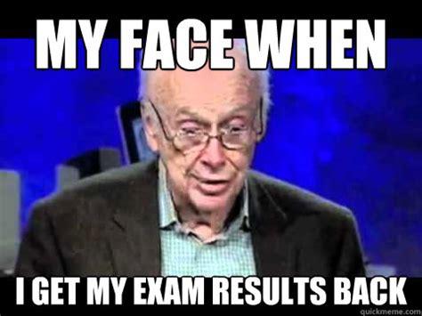 mfw exam results memes quickmeme