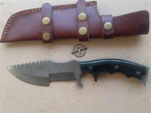 damascus tracker knife custom handmade damascus tracker knife