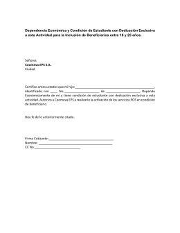 declaracion juramentada salud total formato eps sura dependencia econ 211 mica