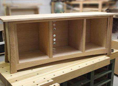 home dzine   diy flat screen tv stand cabinets