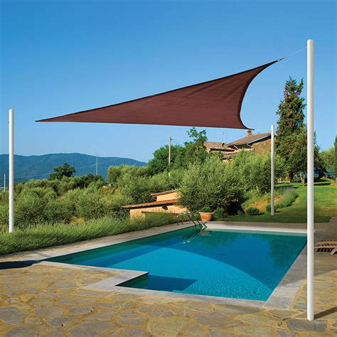 sun shade sail triangle terracotta shade cloth and sails greenhouse megastore