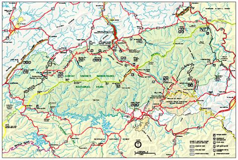 great smoky mountains national park map great smoky mountains national park park map great smoky mountains national park mappery