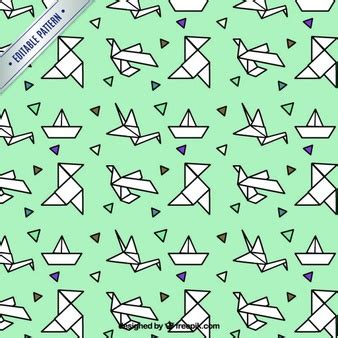 Origami Bird Pattern - bird origami vectors photos and psd files free