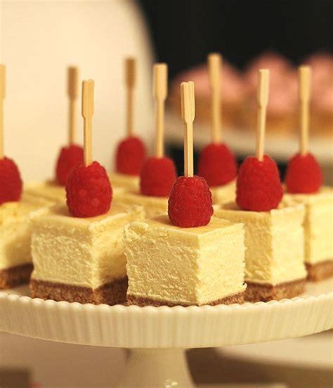 bridal shower finger food desserts finger food cheesecake bites so simple can t