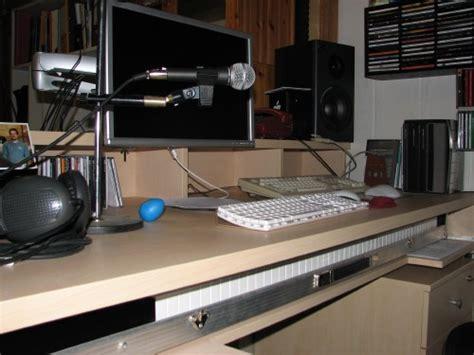 schreibtisch keyboard schublade schublade f 252 r keyboard an schreibtischplatte bauen