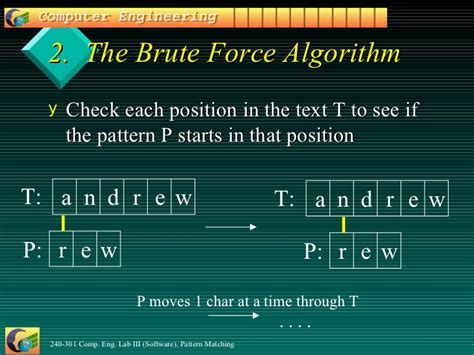 brute force pattern matching algorithm in java pattern matching