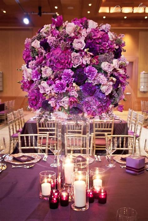 purple wedding table decorations ideas purple wedding ideas with pretty details modwedding