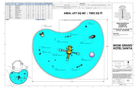layout of mgm grand hotel aquapirates debuts at the mgm grand hotel empex water toys