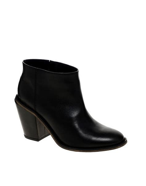 asos asos audio leather ankle boots at asos