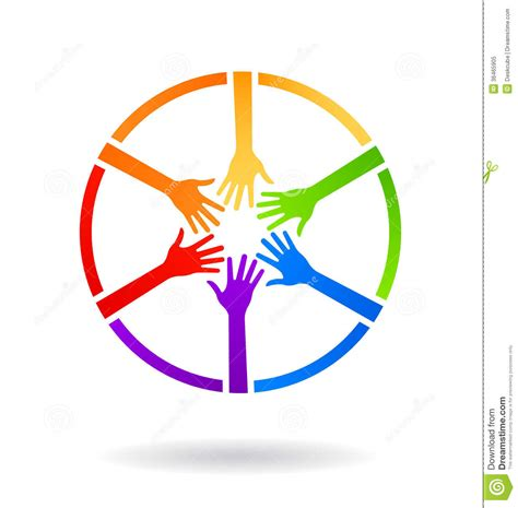 colorful circle logo meeting circle stock image image of nationality